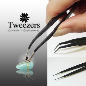 ステンレス製の持ちやすく、使いやすいツイーザーです。  ストーンやブリオンをつまんだり、ネイルシール...