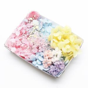 パステルスイート花材セット 1ケース ハーバリウムやアロマワックスバー プリザーブドフラワー 紫陽花...