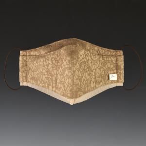 ダブルレイヤードマスク(二重構造) ベージュA(素材:ジャガード) atelieryoshino-goods