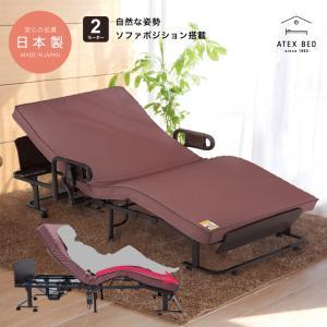 くつろぐベッド 収納式 AX-BE836 (折りたたみベッド・電動ベッド・日本製)|atex-net