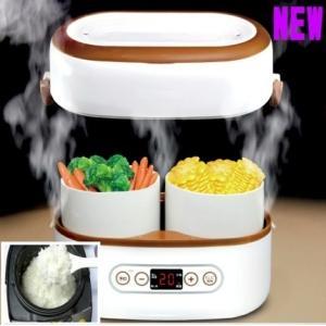 2段弁当箱炊飯器 お米彩のきずな5kg付テレビ番組 多機能炊飯できる弁当箱 炊飯器 おすすめ 人気 おひとりさま用超高速弁当箱炊飯器 おかず 新生活  atex