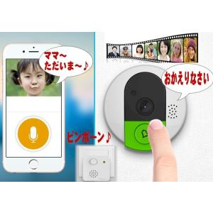 ワイヤレスドアホン防犯カメラ/ネットワークカメラ/どこでもドアスマートカメラ/録画  IPカメラ赤外/WIFI/Iphone/スマホ対応 |atex