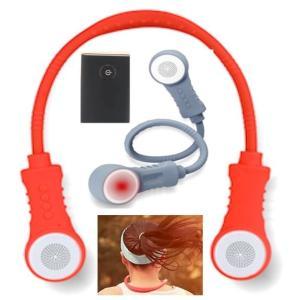みみもとくん ウェアラブルネックスピーカー Bluetooth 首掛けお手元スピーカー 防水ワイヤレススピーカーライト/肩掛けスピーカー/ハンドフリーヘッドホン|atex