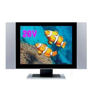 新製品☆人気ワイド20インチ液晶テレビ PCモニターと高画質D端子付シルバーカラー|atex