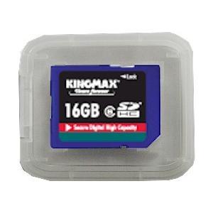 ソフトケース付き16GB高速高信頼SDHCメモリーカード2年保証KINGMAX製Class 2.4....