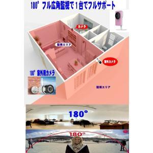 簡単180度フル広角 フルHDIPネットワークカメラ/まる守りくん/録画 防犯カメラ IPカメラ赤外/WIFI/Iphone/スマホ対応 STARCAM MARUMORI|atex|02