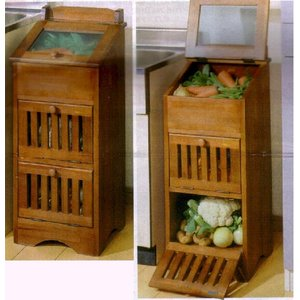 キッチンの整頓に自然にやさしい天然木野菜箱☆送料無料 atex