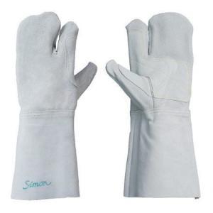 株式会社シモン 溶接用手袋 3本指タイプ 左手用2枚入り CS-131|atexno