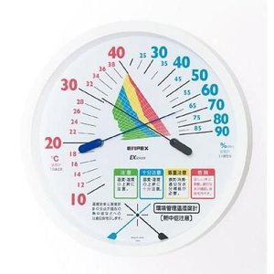エンペックス 環境管理温・湿度計 熱中症注意 TM-2485 atexno