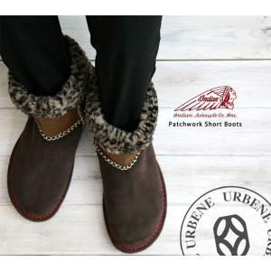 Indian インディアンモトサイクルカンパニー 2WAY パッチワーク ボア ペコスブーツ レディース  靴 メンズ