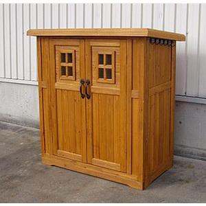 木製物置小屋 カントリー収納庫 (高さ130cm)|atgarden