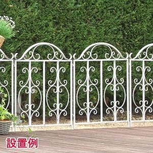 フェンス アイアン ゴージャスアイアン ローフェンス (全幅64cm × 5枚セット) アイアンフェンス DIYフェンス|atgarden