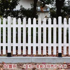フェンス 木製 ボーダーフェンス ピケット ストレート 幅1...