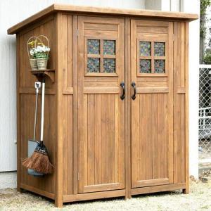 木製収納庫 物置 ポタジェモザイク potager mosaique 木製物置小屋|atgarden