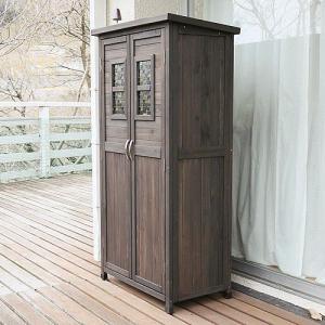 木製収納庫 物置 ポタジェモザイク potager mosaique ハイタイプ (高さ160cm)|atgarden