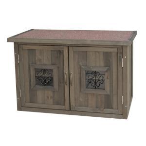 エアコンカバー用 木製収納庫 Potage ポタジェ ACトールボックス レギュラーサイズ エアコン室外機カバー 収納庫|atgarden