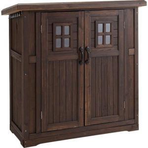 木製物置小屋 カントリー収納庫 (高さ130cm) ダークブラウン|atgarden