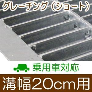 幅20cm溝用グレーチング 長さ600mm×19mm厚 乗用車用用