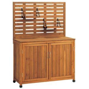 バックパネル付き木製収納庫 Lサイズ (幅101cm)|atgarden