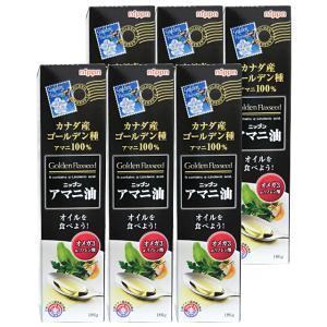日本製粉(ニップン)アマニ油(亜麻仁油)<186g> 6本セット 【ゴールデンフラックスシード】[送...