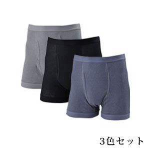 【在庫有】尿漏れ 男性用  紳士ちょいモレ対策 ボクサーパンツ3色組|athenesys