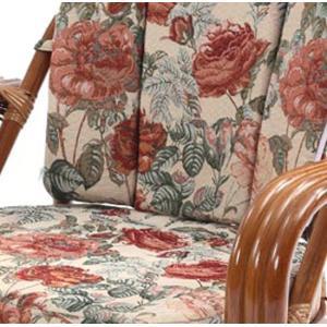 ラタン リラックスチェア 【ジャガード織り 回転チェア  ミドルハイタイプ C842HRBS】 籐 回転式高座椅子/同梱不可・代引き不可|athenesys|03