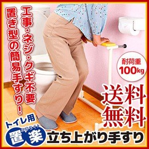 【在庫有】つかまり立ち トイレ [置楽 立ち上がり手すり トイレ用 TAT-002T]|athenesys
