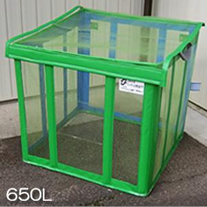 ゴミ置き場 ゴミボックス [自立ゴミ枠 折りたたみ式 緑 650L 9779]/同梱不可・代引き不可|athenesys