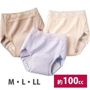 【在庫有】爽やかたっぷり吸収ショーツ3色組 M〜LL [100cc 尿漏れショーツ 婦人用 3枚セット]|athenesys