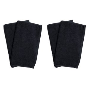 業務用フェイスタオル4枚セット:ブラック(黒)全同色|athos