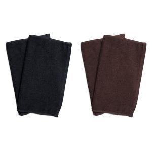 業務用フェイスタオル4枚セット:ブラック2枚とブラウン2枚|athos