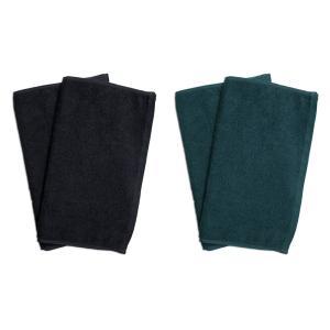 業務用フェイスタオル4枚セット:ブラック2枚とグリーン2枚|athos