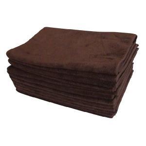 マイクロファイバーフェイスタオル12枚セット ブラウン 茶色|athos