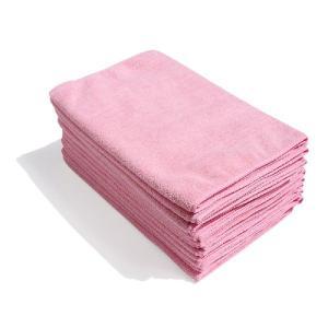 マイクロファイバーフェイスタオル12枚セット:ピンク|athos