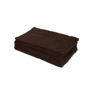 業務用フェイスタオル200匁 10枚セット:ブラウン(茶色)|athos