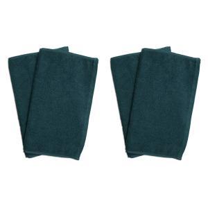業務用フェイスタオル4枚セット:グリーン(緑色)全同色|athos
