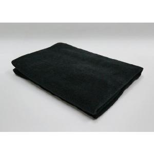 マイクロファイバーバスタオル ブラック 黒 70x140cm 業務用タオル|athos