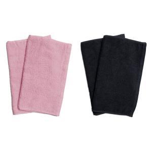 業務用フェイスタオル4枚セット:ピンク2枚とブラック2枚|athos