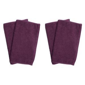 業務用フェイスタオル4枚セット:パープル(紫色) 全同色|athos