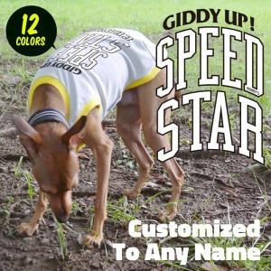 名入れ SPEED STAR メッシュ タンクトップ#2 (メール便OK)イタリアングレイハウンド イタグレ服|athos