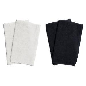 業務用フェイスタオル4枚セット:ホワイト2枚とブラック2枚|athos