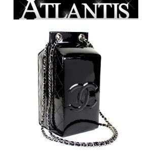 CHANEL 銀座店 超激レア 新品 シャネル ミルク ボックス チェーン ショルダー バッグ パテント 黒|atlantis