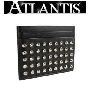 在庫処分大SALE クリスチャン・ルブタン カードケース 名刺入れ スタッズ レザー 黒|atlantis