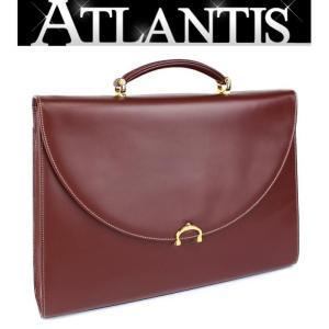 Cartier 未使用 カルティエ ビジネスバッグ マストライン ボルドー|atlantis