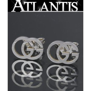 GUCCI グッチ GG ロゴ ピアス K18 WG ホワイトゴールド atlantis