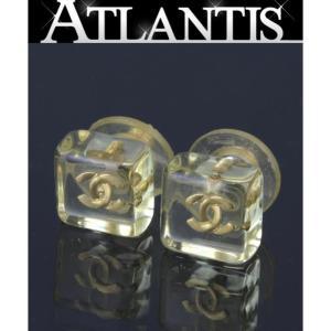 CHANEL シャネル ココマーク プラスチック キューブ ピアス|atlantis