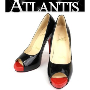 Christian louboutin クリスチャン・ルブタン パンプス 靴 パテント 黒 size37|atlantis