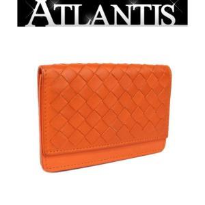 SALE ボッテガヴェネタ カードケース 名刺入れ イントレ オレンジ atlantis
