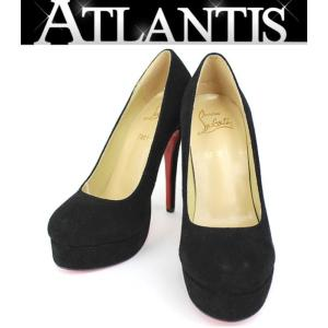 Christian louboutin クリスチャン・ルブタン パンプス 靴 スエード 黒 size39|atlantis