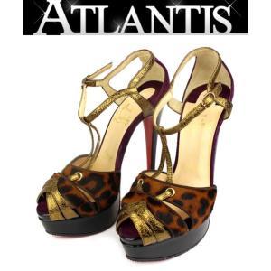 在庫処分大SALE 極美品 クリスチャン・ルブタン パンプス 靴 ハラコ 黒 size35|atlantis